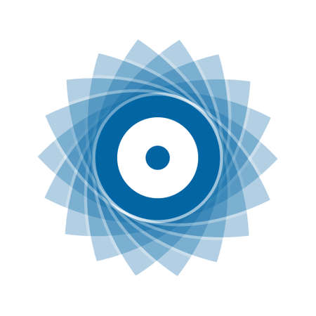 Modèle de symbole de fleur géométrique abstrait bleu clair. Icône abstraite d'affaires isolé sur blanc. Vecteurs