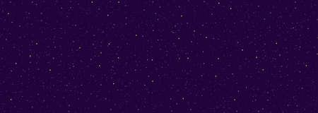 Detaillierter realistischer Panorama-Nacht-Sternenblauer Himmel. Kosmos-Konzept. Galaxie-Explosion. Sterne im Weltraum abstrakt. Astronomie-Schönheitsmuster. Herzlichen Glückwunsch oder Einladungshintergrund. Vektor-Illustration Vektorgrafik