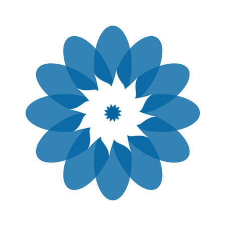 Light blue abstract geometric flower logo template. Business abstract icon isolated on white. Use for logo, sign, symbol, web, label, icon