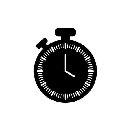 Clock line icon isolated on white background. Black and white simple watches. Time concept 写真素材