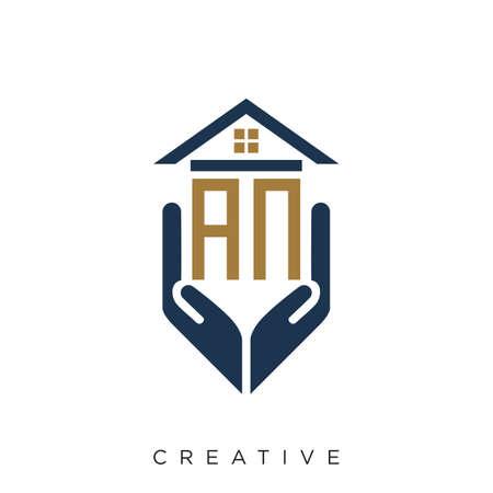 an logo design vector for real estate