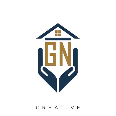 gn logo design vector for real estate