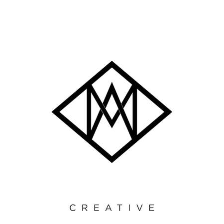 m logo design vector icon 向量圖像