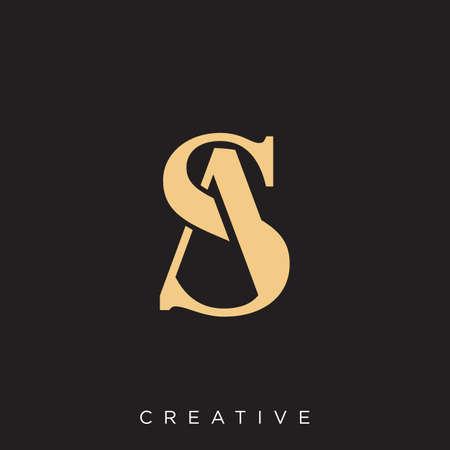sa logo design vector icon