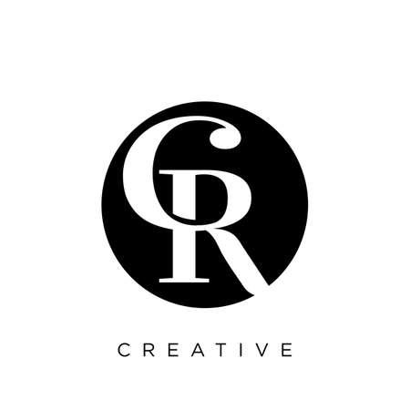 cr luxury logo design vector icon