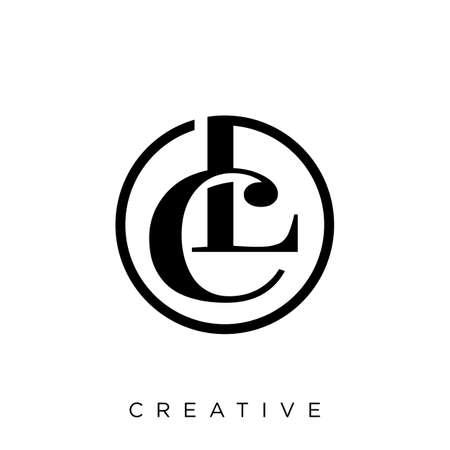 cl luxury logo design vector icon