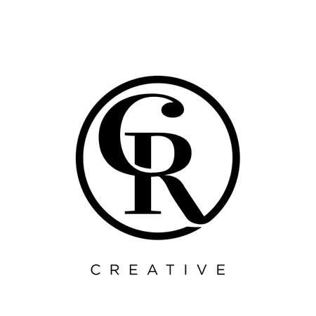 cr luxury design vector icon symbol