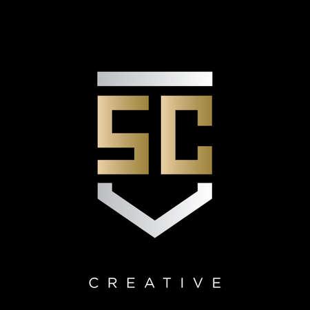 sc shield    design vector for company