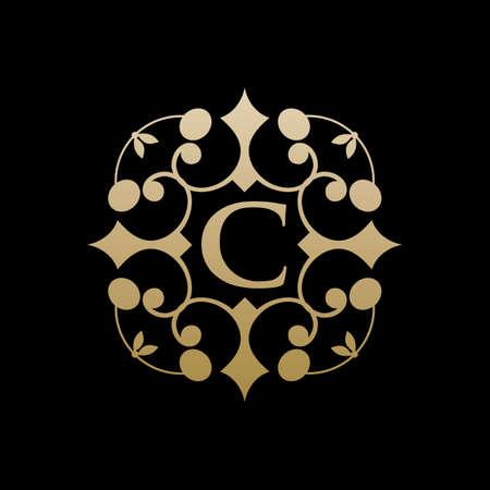 c ornament logo design vector icon