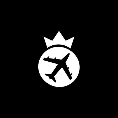 plane travel logo design