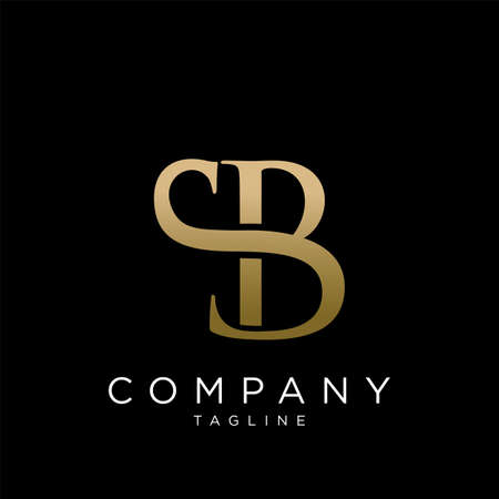 sb luxury logo design vector icon symbol
