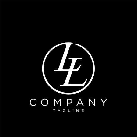 ll circle luxury logo design vector icon symbol Logó