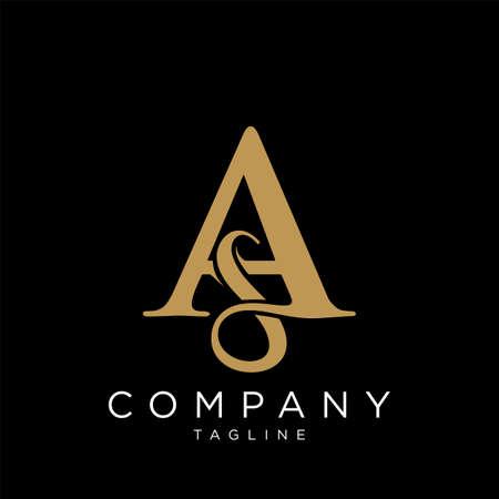 sa luxury logo design vector icon symbol