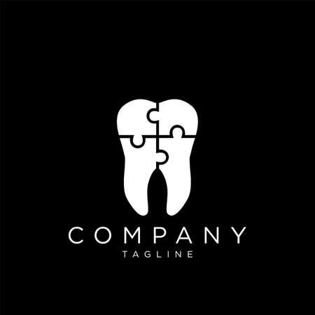 dental logo design vector icon premium