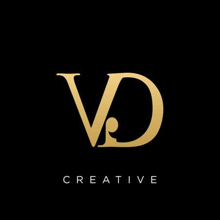 vd luxury logo design vector icon Logó