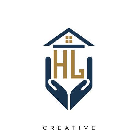 hl home hand logo design vector icon symbol Logo