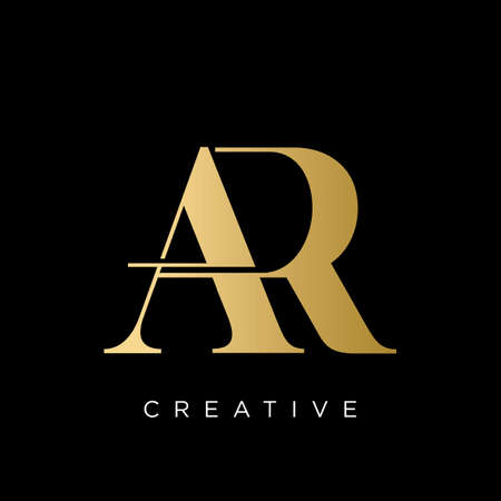 ar luxury logo design vector icon symbol