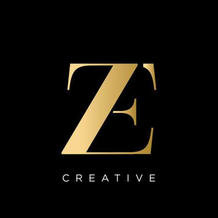 ze luxury logo design vector icon symbol