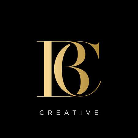 bc luxury logo design vector icon symbol