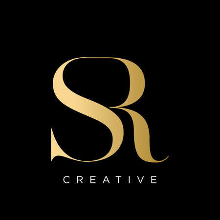 sr luxury logo design vector icon symbol