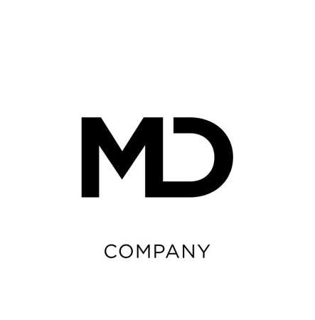 md modern logo design vector icon symbol