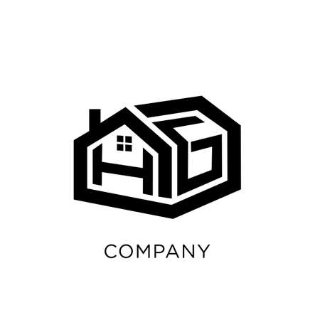 hg home logo design vector icon symbol