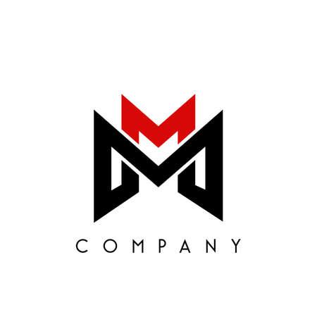 mm modern logo design vector icon symbol