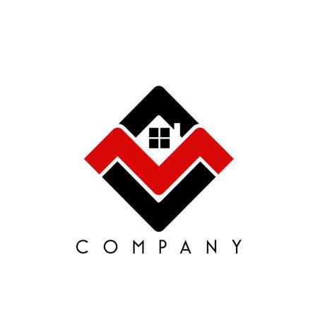 mv home modern logo design vector icon symbol Logó
