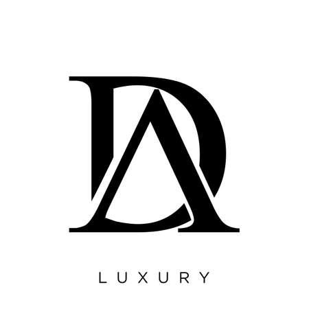 da or ad luxury   design vector icon symbol