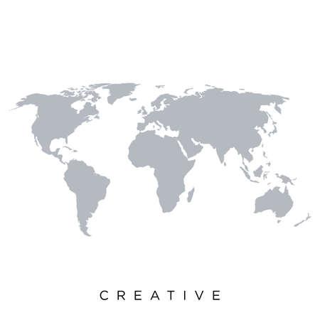 map world vector design earth