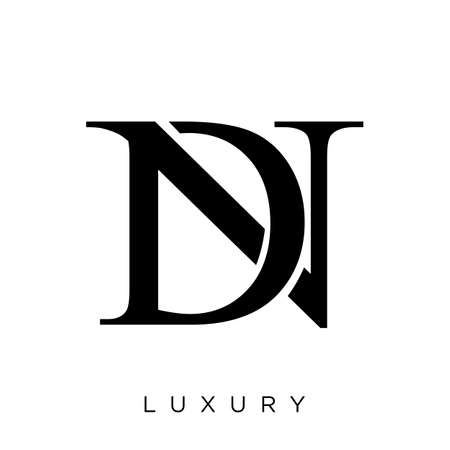 dn or nd   design vector icon symbol luxury Illustration
