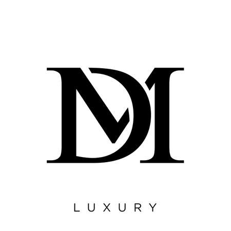 dm or md   design vector icon symbol luxury Illustration