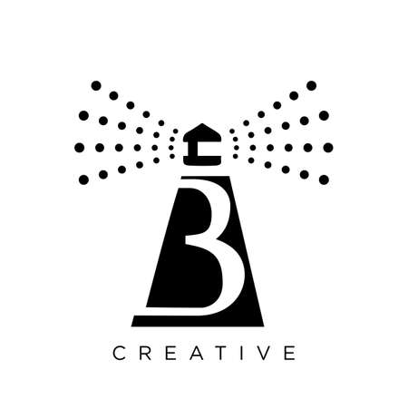 b beacon logo design vector icon symbol Vettoriali