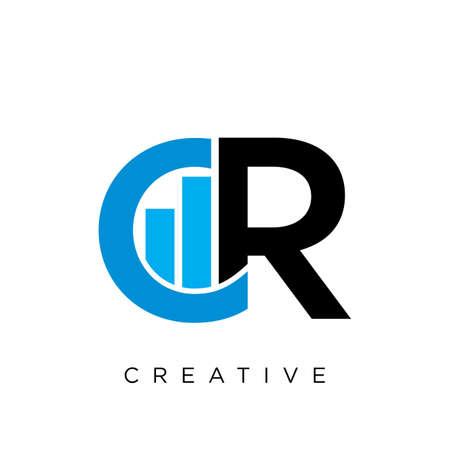 cr Luxury Premium Logo company simple design Logó