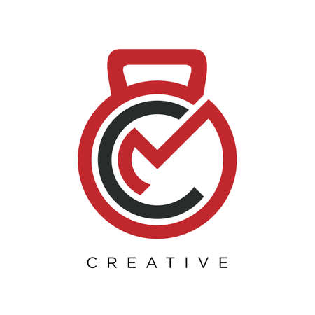 cm fitness logo design vector icon symbol