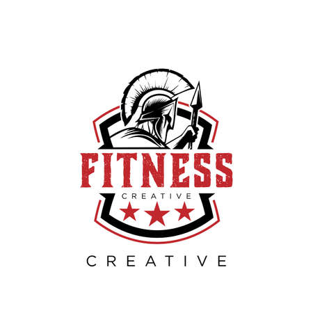 spartan fitness logo design vector icon symbol 向量圖像