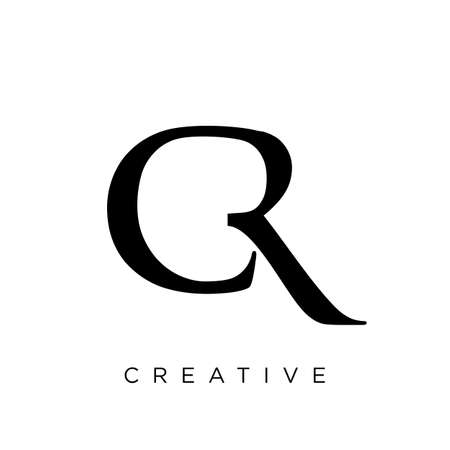 cr Luxury Premium Logo company simple design