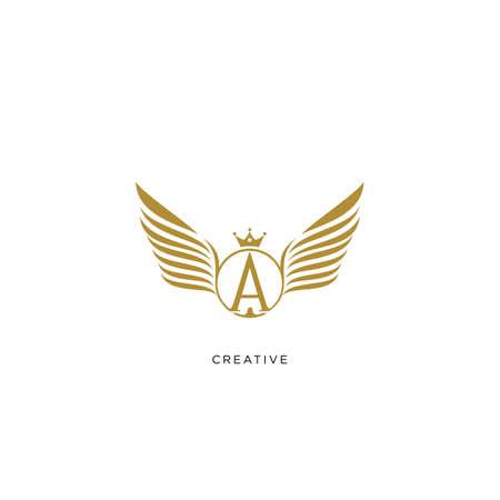ta or a angel king   design vector icon symbol Vettoriali