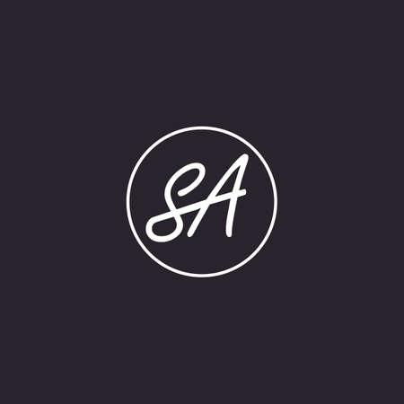 sa premium logo design vector icon symbol luxury