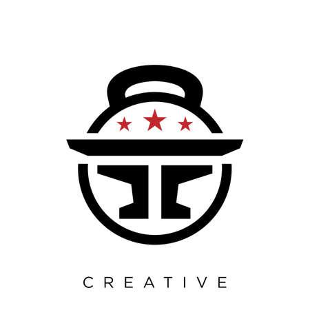 ff anvil logo design vector icon symbol
