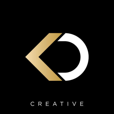 kd initial logo design vector icon symbol luxury