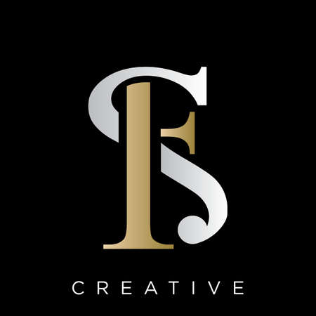 fs luxury logo design vector icon symbol