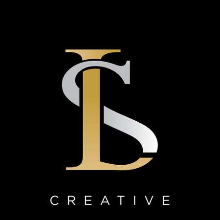 ls luxury logo design vector icon symbol Logó