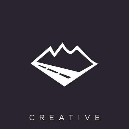 street mountain Logo company design vector icon symbol Ilustração