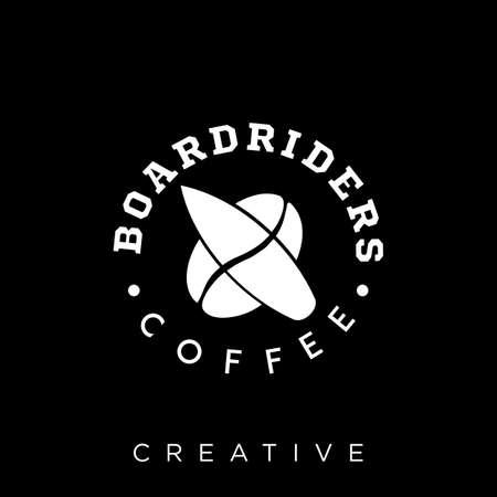 board rider coffee   design vector icon symbol