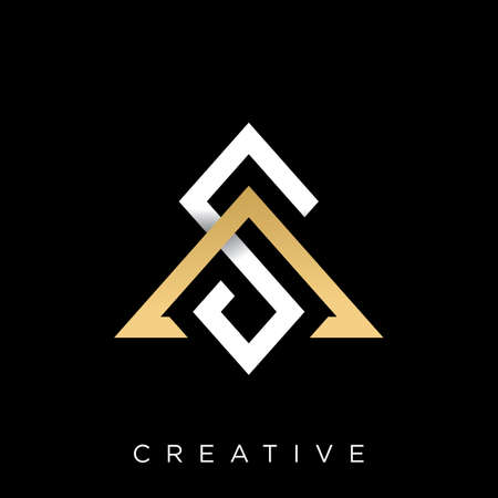 sa initials logo design vector icon symbol modern linked Illustration