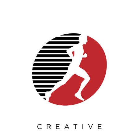 o run logo design vector icon symbol