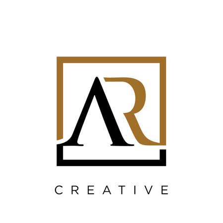 ar luxury logo design vector icon symbol initials