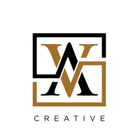 av luxury  logo design vector icon symbol initials Illusztráció