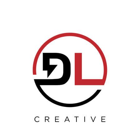 dl electric logo design vector icon Illusztráció